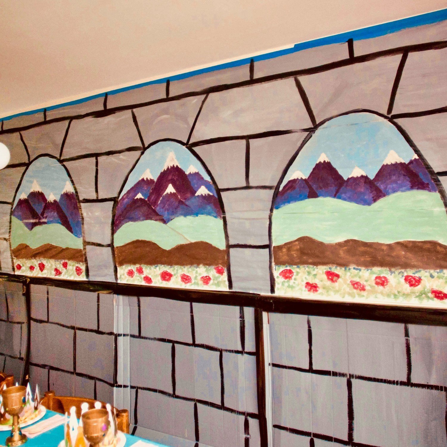 princess party diy wall decorations with painted views
