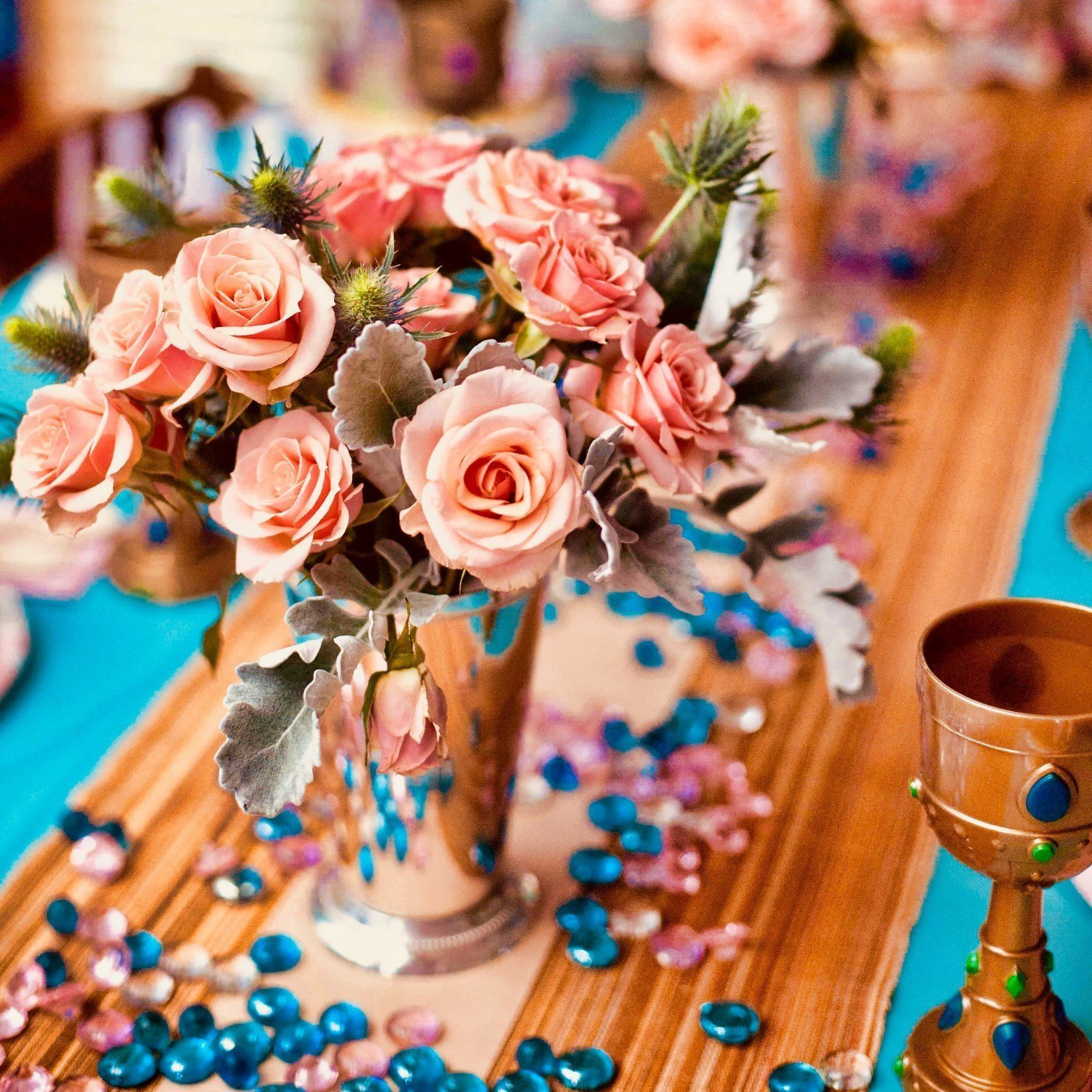 pink roses for diy princess party florals