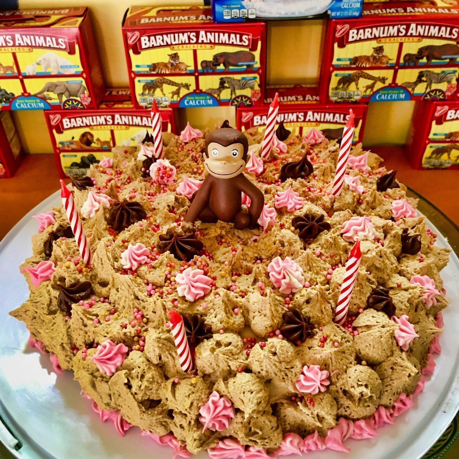 curious george buttercream birthday cake