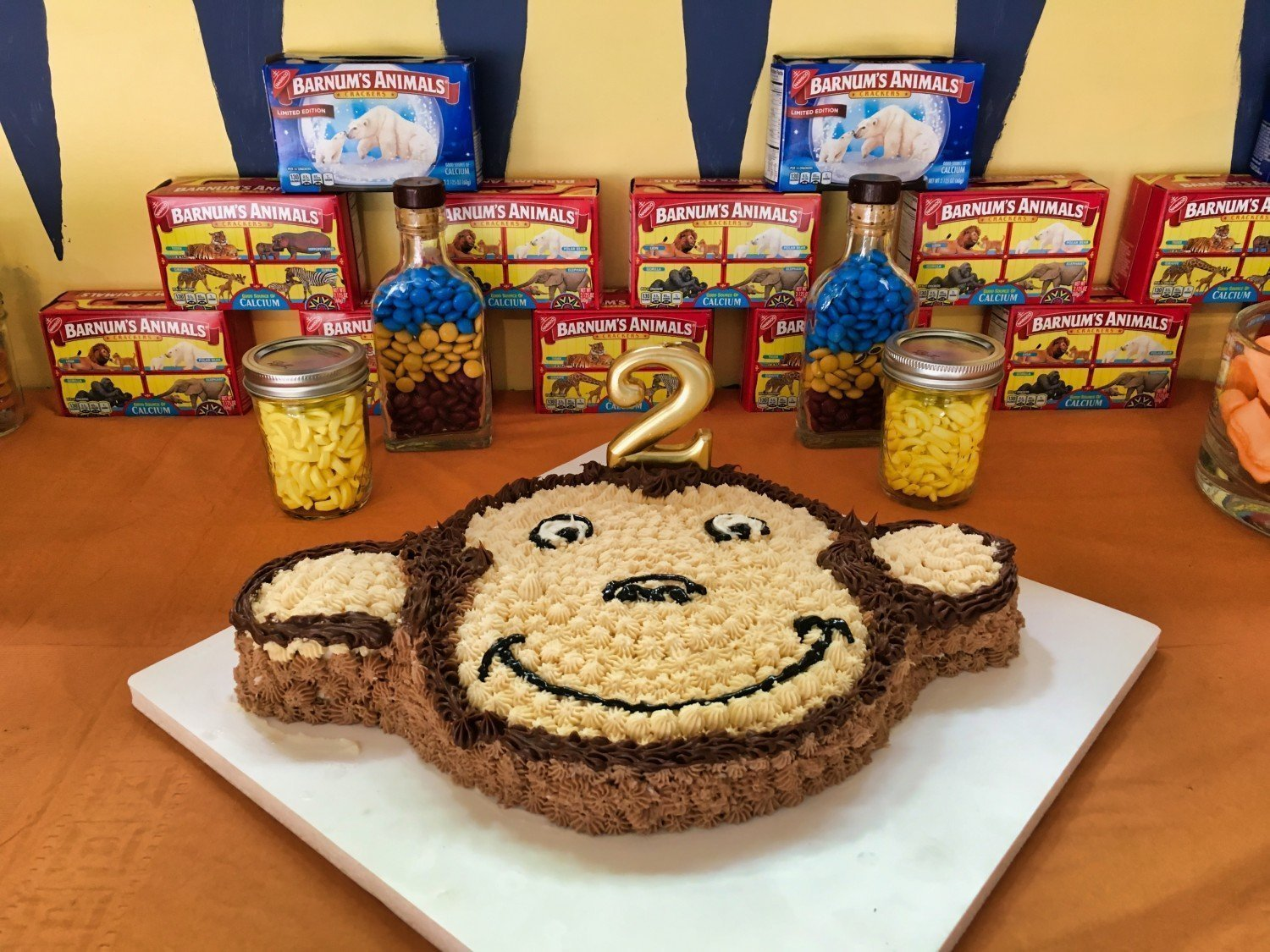 Themed Birthday Party Cake on Treat Table