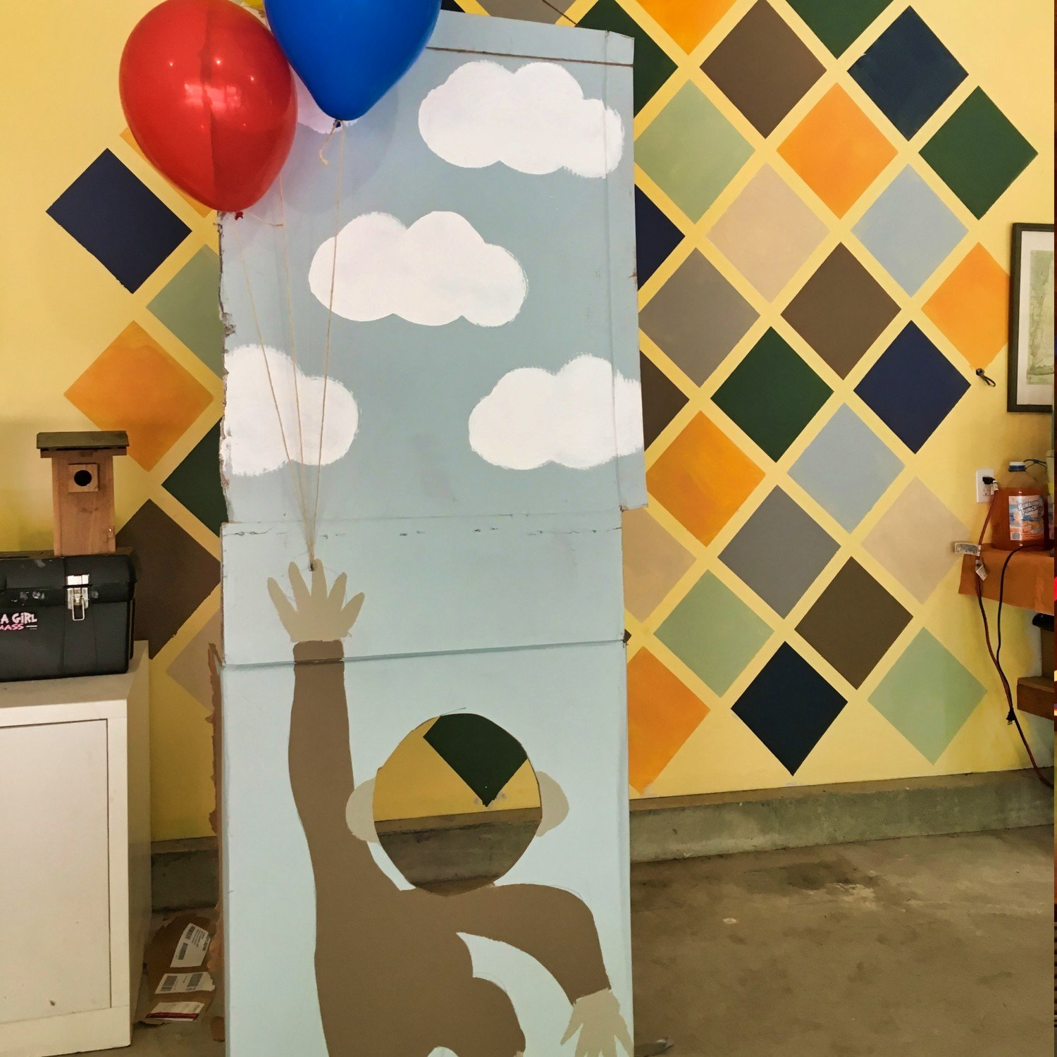 curious george diy cut out for birthday party photo opportunities