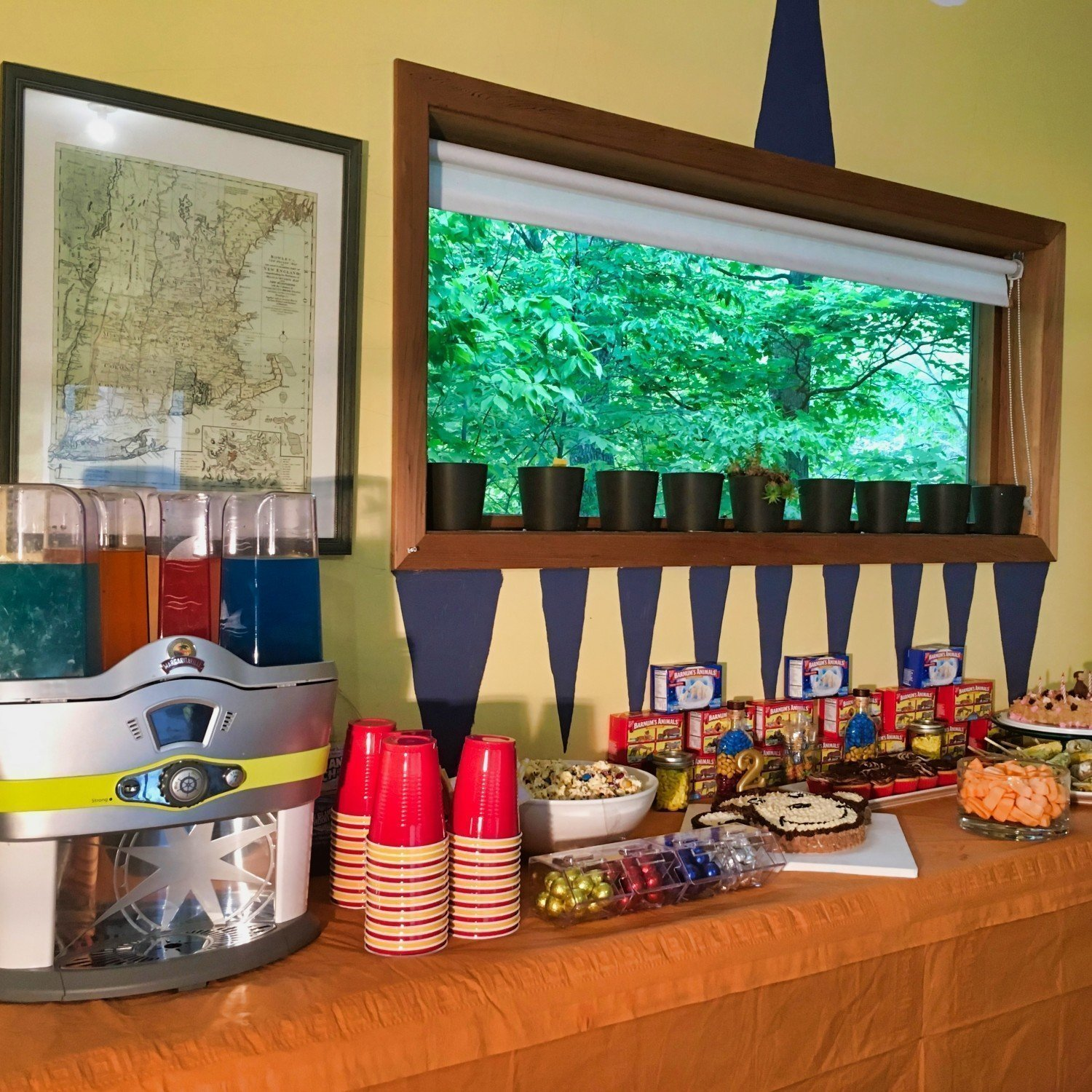diy birthday party juice and snack bar